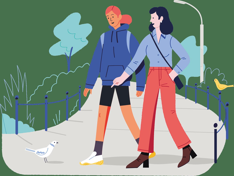 Walk in the park illustration