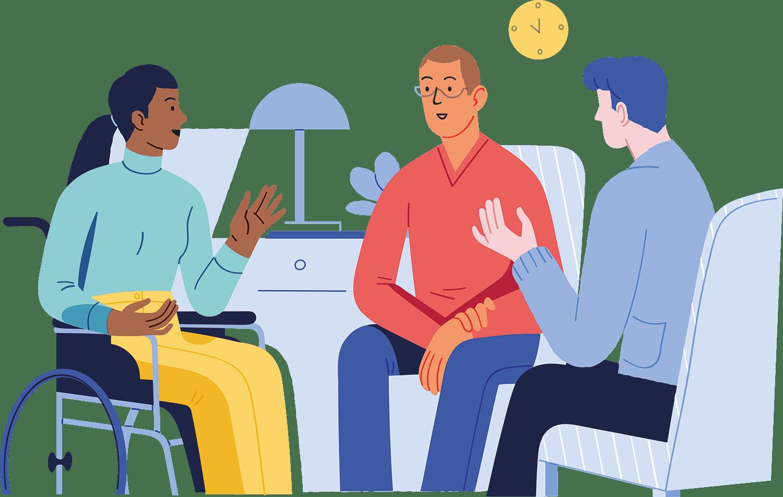 Group Talk Illustration